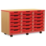 18 Shallow Red Tray Store with Red Edging