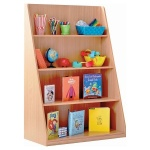 Single Sided Library Unit with 4 Shelves