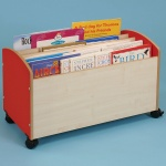 Children's Mobile Big Book Box - Red & Maple
