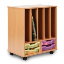4S All Sorts Bookholder Unit with 4 Shallow Trays (Stackable)