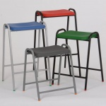 Robin Day Poly Flat-Top Lab & Craft Stool