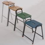 Wooden Flat-Top School Lab & Craft Stool
