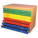 Multicolour A1 Paper Storage (8 Drawers)