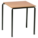 Advanced Slide-Stacking Square Classroom Table