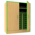 ''The Edge'' 21 Tray Storage Cupboard + Shelf