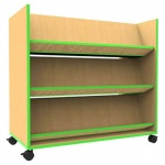''The Edge'' Mobile Book Trolley + Angled Shelves