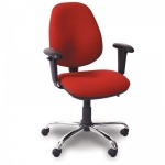 Advanced Deluxe-High-Back Office Chair + Adjustable Armrests