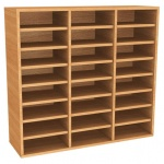 Wall Mounted Pigeon Hole Unit - 24 Compartment