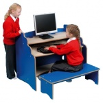 Children's Computer Workstation + Bench