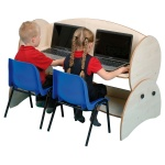 Children's Wide Low-Level Adjustable Computer Desk