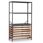 Tall 3 Bay Science Storage System - 6 Wooden Trays