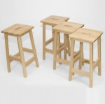 School Wooden Lab Stool - 610SH (Pack of 4)
