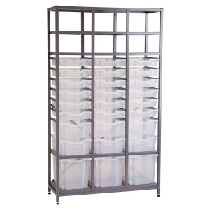Tall 3 Bay Chemical Storage - Multi-Tray