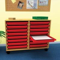 School Art Tray Storage