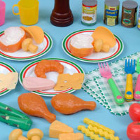Children's Role-Play Plastic Food Sets