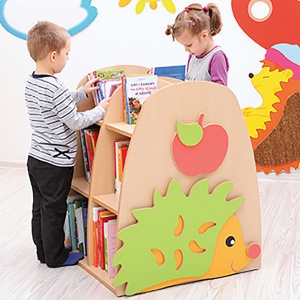 Children's Double-Sided Hedgehog Bookcase