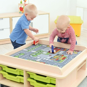Children's Low Square Play Table