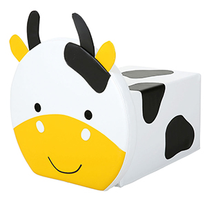 Nursery Soft Seat - Cow Foam Pouffe