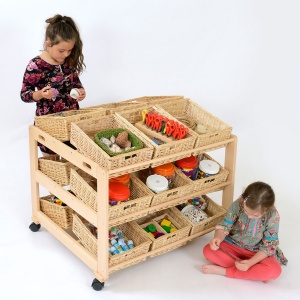 18 Shallow Basket Double Classroom Tidy