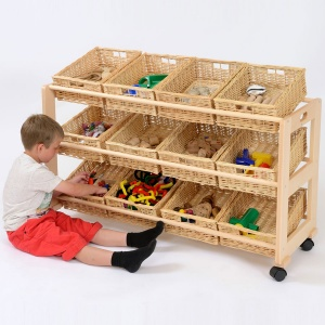 12 Shallow Basket Classroom Tidy