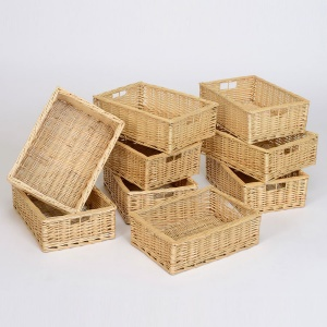 Wicker Baskets - Shallow (Pack of 9)