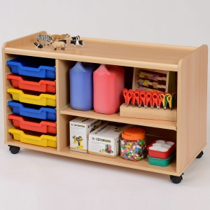 6 Shallow Tray/Shelf Storage Unit