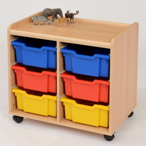 6 Deep Tray Storage Unit