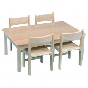Children's Rectangular Veneer Wooden Table (960 x 690mm)