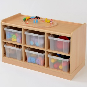 6 Deep Clear Tray Static / Mobile Classroom Storage