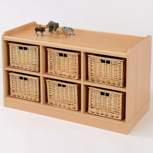 6 Deep Basket Classroom Storage