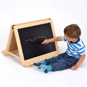 Children's Table Top / Floor Double Sided Mobile Easel