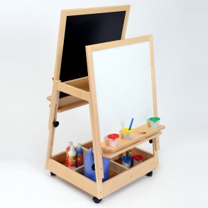 Children's Double Reversible Adjustable Mobile Easel