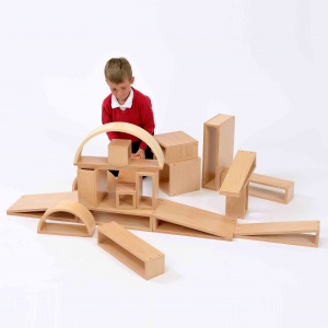 Children's Brico Wooden Building Blocks - Pack of 20