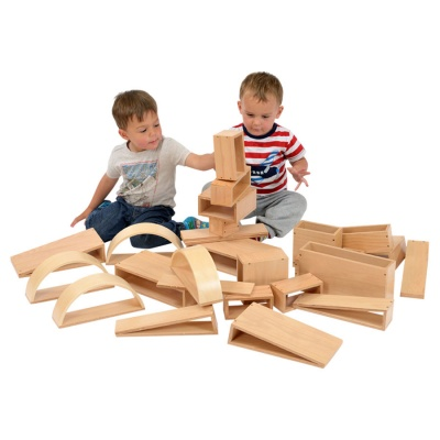 Children's Brico Wooden Building Blocks - Pack of 30