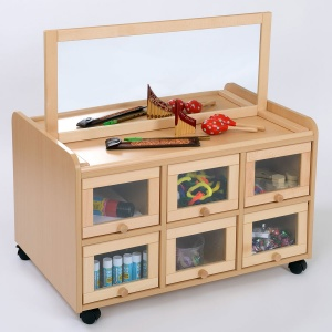 Double Sided Nursery Resource Unit + Doors & Mirror