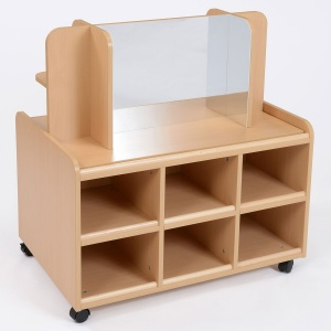 Double Sided Nursery Resource Unit + Display / Mirror