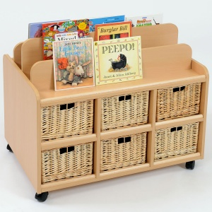 Double Sided Nursery Book Display + Baskets