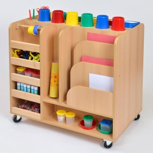 Primary Mobile Art Trolley + Pots & Trays