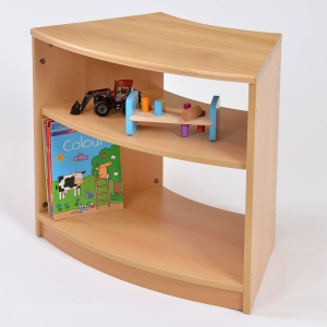 Room Scene - Low Curved Shelves