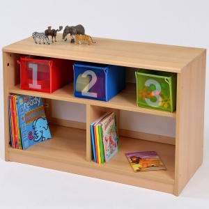 Room Scene - Open Bookcase With Insert Panel