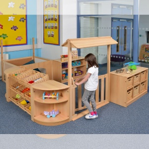 Room Scene 10 - Children's Play Zone + Den