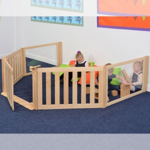 Room Scene 11 - Nursery Panel-Fenced Play Zone