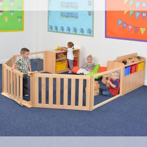 Room Scene 12 - Nursery Gated Play Zone With Storage