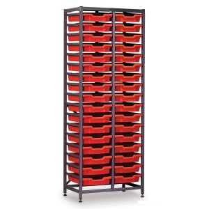 Tall 2 Bay Science Storage - 34 Shallow Trays