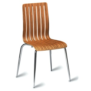 Lucia Dining / Bistro Chair - Zebrano