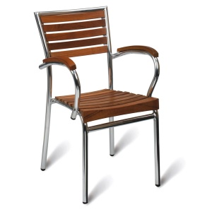 Monaco Teak Outdoor Cafe Armchair