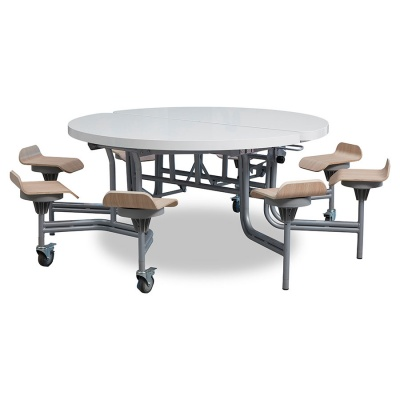 8 Seat Primo Round Mobile Folding Table - Seats