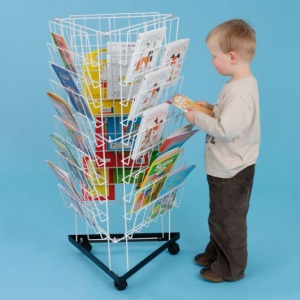 Small Mobile 3 Sided Book Rack