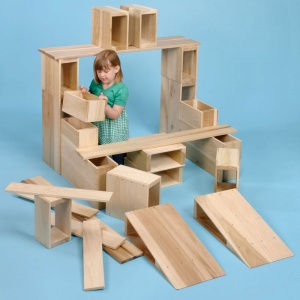 Children's Hollow Blocks 26 Piece Set