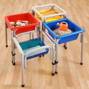 Children's Tiny Tubs Square (2 Clear & 2 Coloured)